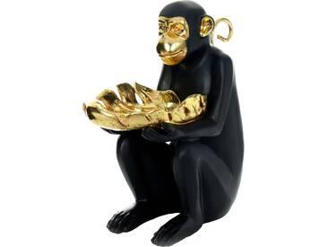 Kayoom Skulptur Sitting Monkey 400 Gold / Schwarz