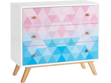 Home affaire Kommode »Zick-Zack« im Retro-Design, Breite 90 cm