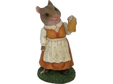 Home affaire Tierfigur Frau Maus im Kleid mit Bierglas