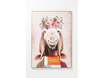 KARE Design Bild Touched Flowers Goat