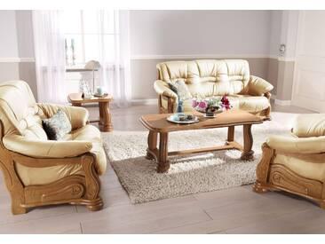 Max Winzer Polstergarnitur Texas mit dekorativem Holzgestell...