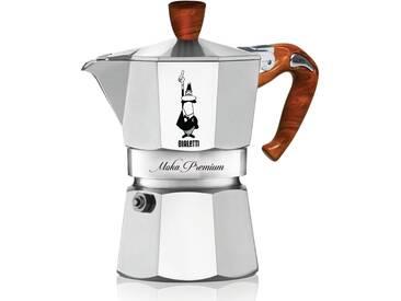 BIALETTI Espressokocher, Aluminium, Holzimitat-Griff, 6...