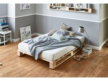 Atlantic Home Collection Palettenbett aus massiver Fichte,...