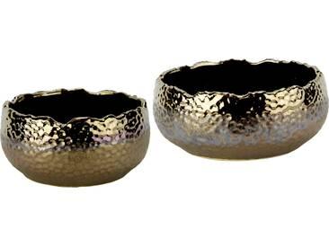 Home Affaire Keramikschalen in gehämmerte Optik (2er Set)