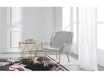GMK Home & Living Sessel »Roubaix« aus weichem Velvetbezug und...