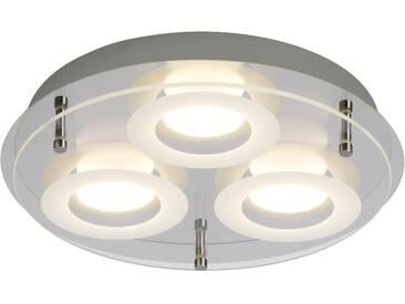 AEG Charon LED Deckenleuchte 3flg chrom/transparent easyDim