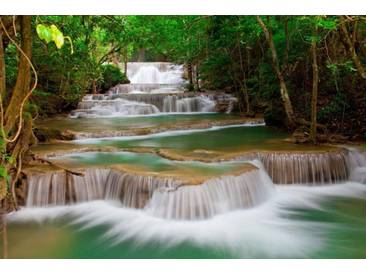 Home affaire Fototapete »Deep Forest Waterfall«, 350/260 cm