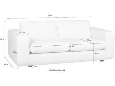 machalke® 2,5-Sitzer Ledersofa »Valentino« mit breiten...