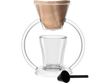LEONARDO Kaffeebereiter, Glas, handmade, »Duo«