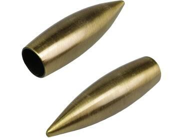 Endstück, Liedeco, »Bullet«, für Gardinenstangen Ø 16 mm (2...