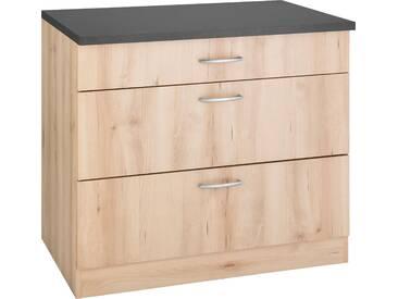 WIHO Küchen Unterschrank Brilon mit großen Auszügen Breite 90 cm