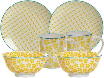 Ritzenhoff & Breker Frühstück-Set, gelb, Porzellan, 6 Teile,...