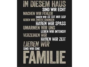 Home affaire Deco-Panel »In diesem Haus...«, Schriftzug