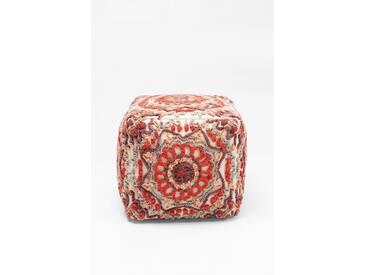 KARE Design Sitzwürfel Arabian Flower Reddish