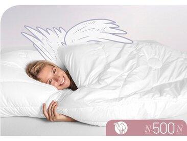 Naturhaarbettdecke N500 Schlafstil normal