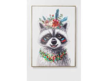 KARE Design Bild Touched Flowers Raccoon