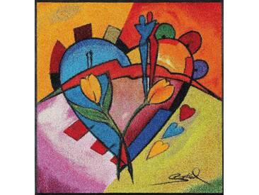 Fußmatte, »balanced love ll«, wash+dry by Kleen-Tex,...
