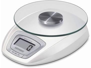 Leifheit Digitale Küchenwaage, mit LED Anzeige, Wiegeteller...
