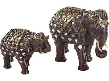 Home affaire Dekofigur »Orientalische Elefanten« (2-tlg. Set)
