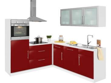 wiho Küchen Winkelküche Aachen mit E-Geräten Stellbreite 210 x...