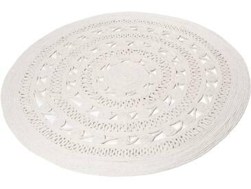 Teppich, »Crochet Style«, Esprit, rund, Höhe 8 mm, handgewebt