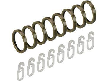 Gardinenring, Liedeco, mit Faltenlegehaken Ø 16 mm (8 Stück)
