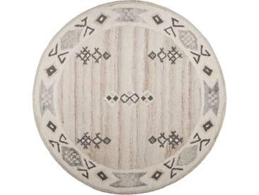 Teppich, »Royal Berber«, THEKO, rund, Höhe 18 mm, handgetuftet