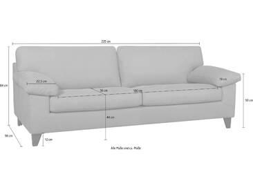 machalke® 3-Sitzer Ledersofa »Diego« mit weichen Armlehnen,...