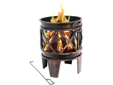 "BBQ-Toro Feuerkorb ""Plum""  Ø 42 x 52,5 cm  Feuerschale, Feuerstelle"