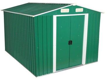 Zelsius - Gerätehaus, grün, Geräteschuppen mit Giebeldach, 3 m x 2,5 m