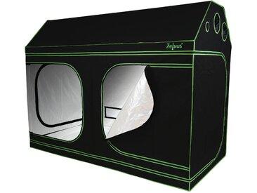 Zelsius Grow Tent 240 x 120 x 180 cm schwarz/grün Pflanzenzucht Indoor