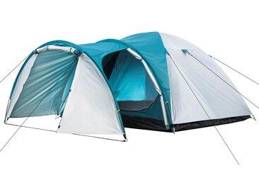 CampFeuer Campingzelt, silber / grün, 3 Personen Kuppelzelt, 3000 mm
