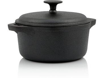 BBQ-Toro Gusseisen Topf  3,0 Liter - Ø 21 cm  bereits eingebrannt