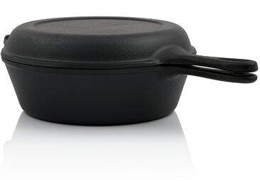BBQ-Toro Gusseisen Topf mit Pfannendeckel  3,5 Liter Stielkasserolle