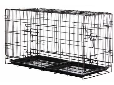 Zelsius Haustierkäfig, 80 x 40 x 48 cm, faltbar, für Hunde, Katzen,...