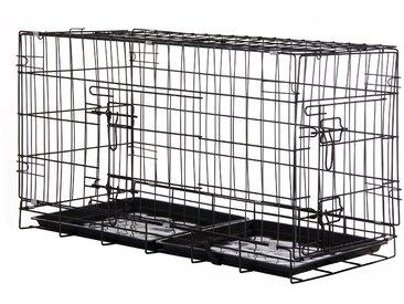 Zelsius Haustierk�fig, 80 x 40 x 48 cm, faltbar, f�r Hunde, Katzen,...
