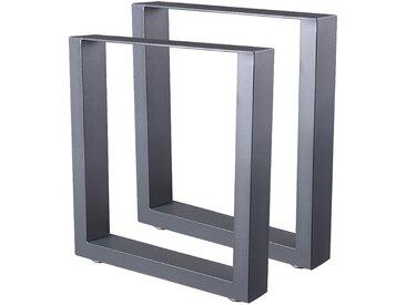 Zelsius Tischkufen 2er Set (B) 40 x (H) 43 cm, Metall Tischbeine, grau