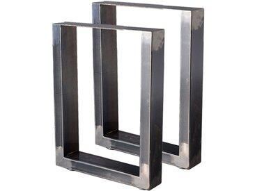 Zelsius Tischkufen 2er Set (B)30 x (H)43 cm, Rohstahl, Industrie Stil