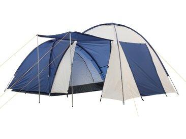 CampFeuer Campingzelt, creme, 4 Personen Doppel Kuppelzelt, 3000 mm
