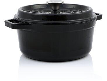 BBQ-Toro Cocotte  6,3 Liter - Ø 28 cm  Gusseisen emailliert, schwarz