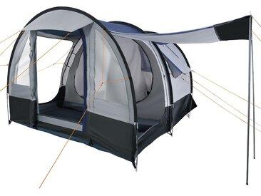 CampFeuer Campingzelt, 4 Personen Tunnelzelt, grau /schwarz, 2000 mm