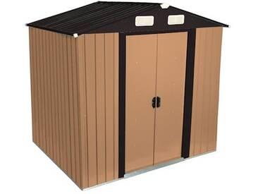 Zelsius - Gerätehaus, braun, Geräteschuppen, 204 x 130 cm