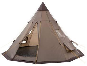 CampFeuer - Geräumiges Tipi Zelt (Teepee) - Indianerzelt, braun
