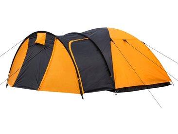 CampFeuer Campingzelt, orange/schwarz, 3 Personen Kuppelzelt, 3000 mm