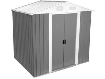 Zelsius - Gerätehaus, hellgrau, Geräteschuppen, 204 x 130 cm