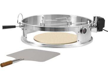 BBQ-Toro Edelstahl Pizzaring Set mit Grillspieß für Ø 57 cm Kugelgrill