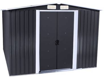Zelsius - Gerätehaus, grau, Geräteschuppen mit Giebeldach, 2m x 2,5m