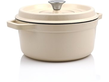 BBQ-Toro Cocotte  3,5 Liter - Ø 24 cm  Gusseisen, emailliert, creme