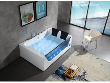 Luxus Whirlpool 180x120 Mulde Badewanne Whirlwanne für 2 Personen