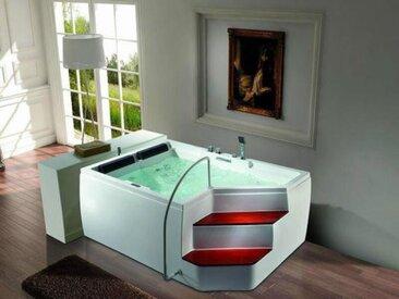 2 Pers. Whirlpool 175x120 Rockford 2 SOFORT mit Treppe Badewanne Sonderpreis